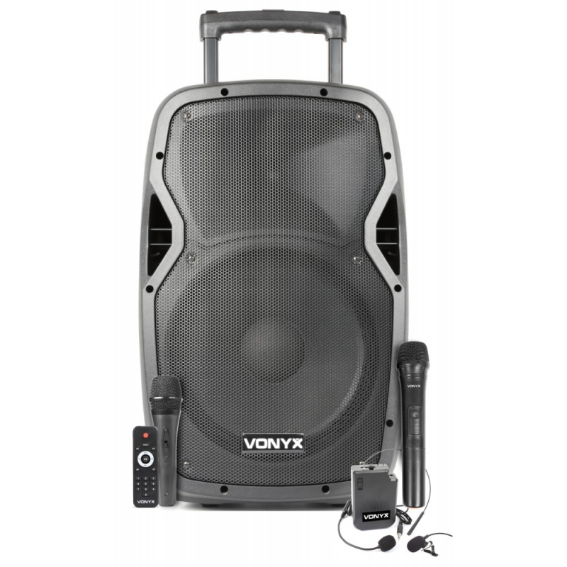 Verhuur Accu Speaker 12 inch Bluetooth/UHF/Mp3