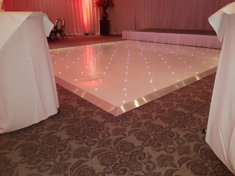 Dansvloer wit twinkel 5 x 5 meter